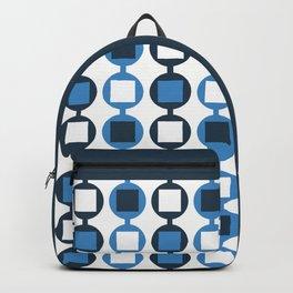 Retro Beads Pattern - Navy Blue & White Backpack