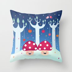 The Twins Throw Pillow