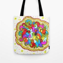 Violetta Print Pattern Design Tote Bag