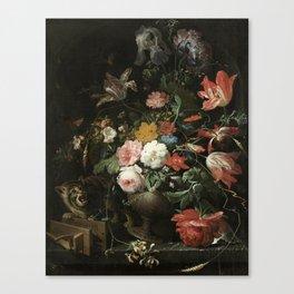 The Overturned Bouquet, Abraham Mignon, 1660 - 1679 Canvas Print