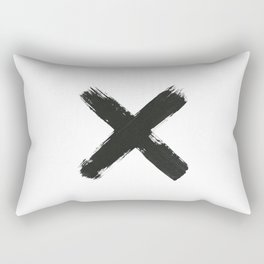 Black Cross Rectangular Pillow