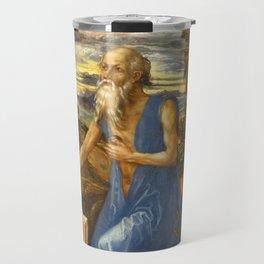 Saint Jerome in the Wilderness by Albrecht Dürer Travel Mug