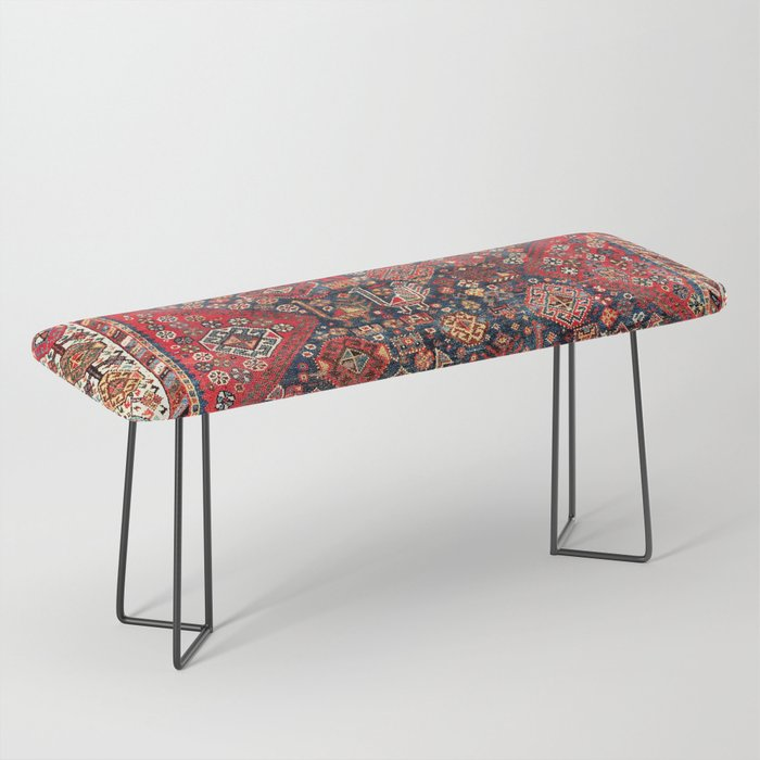 Qashqa'i Fars Southwest Persian Nomad Rug Print Bench