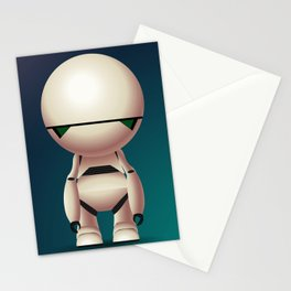 Marvin the Paranoid Android Stationery Cards
