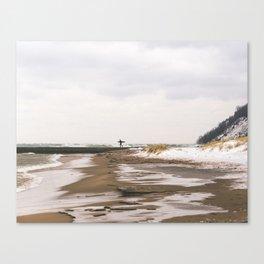 Winter Surf | Frankfort, Michigan | John Hill Photography Canvas Print
