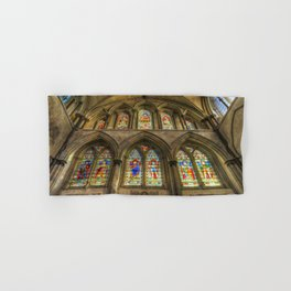 Rochester Cathedral Stained Glass Windows Hand & Bath Towel