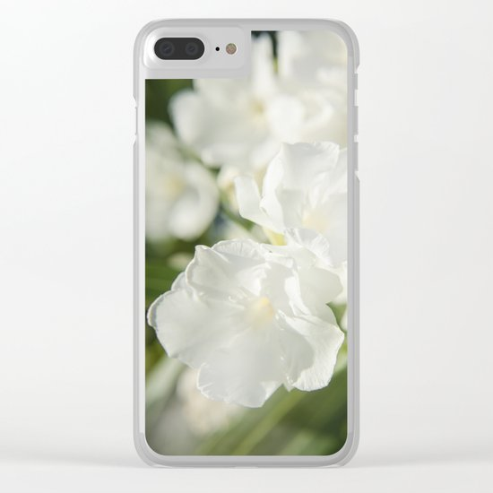 Luminous White 2 Clear iPhone Case