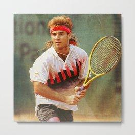 Andre Agassi Tennis Metal Print