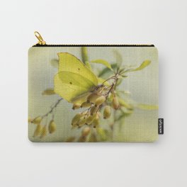 Yellow butterfly on berberis Carry-All Pouch