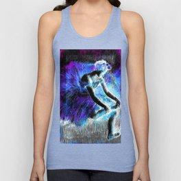Black Ballerina  Violet Turquoise Blue Unisex Tank Top
