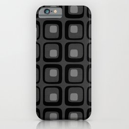 60s Grayscale Mod iPhone Case
