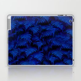 Deep Blue Fern Plant Wall Laptop & iPad Skin
