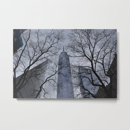 1World Trade Through The Trees Metal Print
