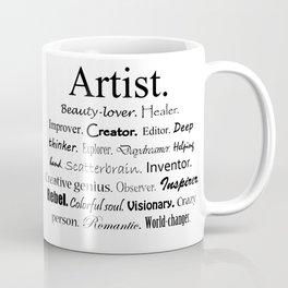 Artist Description Coffee Mug