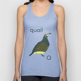Q is for Quail Unisex Tank Top
