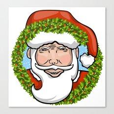Santa Claus Wreath Canvas Print