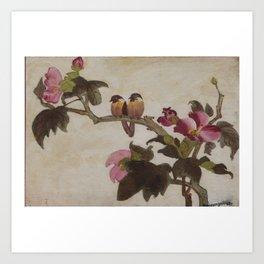 Love Birds - in Oil Art Print