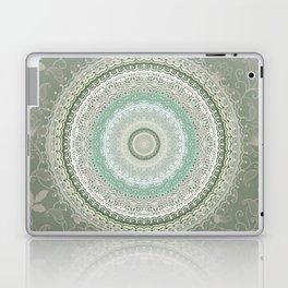 Mandala Lace Bohemian Green Laptop & iPad Skin