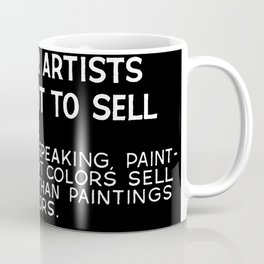 Tips For Artists in Black Coffee Mug