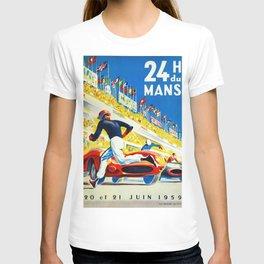 Vintage 1959 le Mans Poster T-shirt
