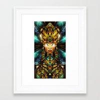 mandie manzano Framed Art Prints featuring Nefertiti by Mandie Manzano