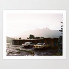 Abandoned cars in Colorado  Art Print