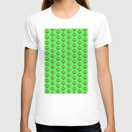 Dream Pattern - House in Cup - TeaPot - Dream Color - Green T-shirt