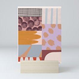 Modern Collage - Minimalism Collage - Earth Tone Collage Mini Art Print
