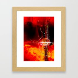 Flaming Texture Framed Art Print