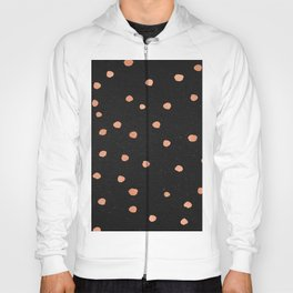 Rose Gold Dots on Black Pattern Hoody