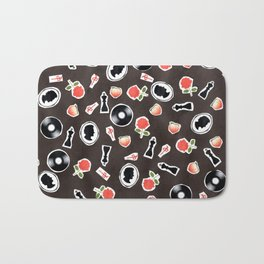 Black ChaRActer Pattern Bath Mat