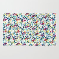 splatter Area & Throw Rugs featuring Splatter by Regan McDonell Design