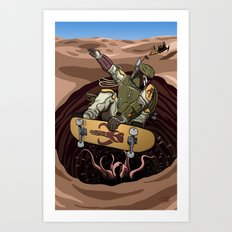 Boba Fett Shreds Art Print