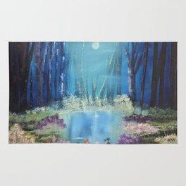 Nightfall at the pond Rug
