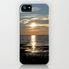 Watercolor Sunset, Janes Island 08, Maryland iPhone Case