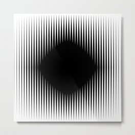 The Black Hole Optical Illusion Metal Print
