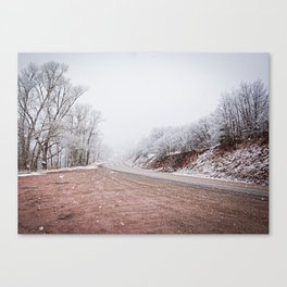 As the snow falls Canvas Print