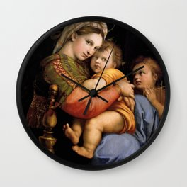 """Raffaello Sanzio da Urbino """"Madonna della seggiola"""", 1513-1514 Wall Clock"""