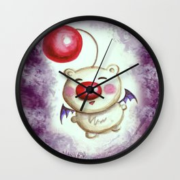 Fat and Squishy Moogle Wall Clock