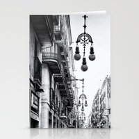 barcelona Stationery Cards featuring Barcelona  by Monochrome by Juste Pixx