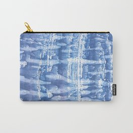 Steel blue blurred aquarelle Carry-All Pouch