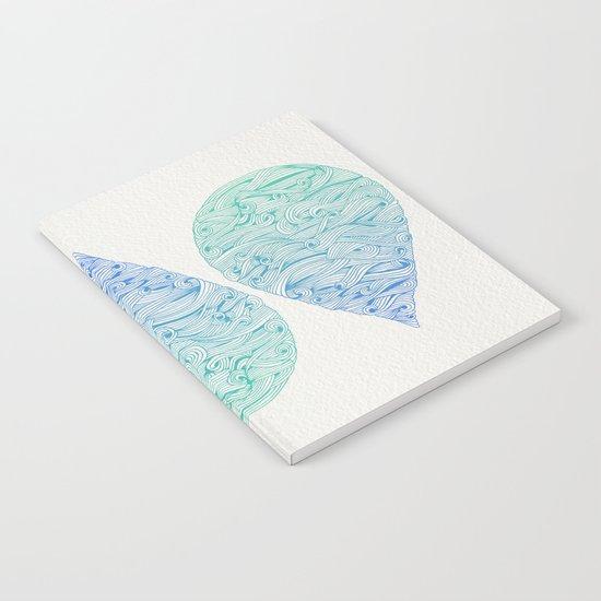 Ombré Droplet Notebook