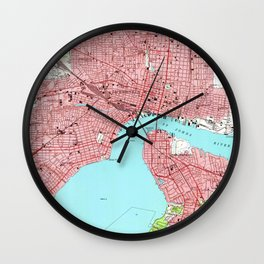 Vintage Map of Jacksonville Florida (1950) Wall Clock