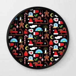 Gingerbread & Snow Globes Wall Clock
