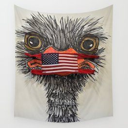 wear a mask Wall Tapestry