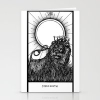tarot Stationery Cards featuring Strength Tarot by Corinne Elyse