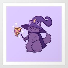 Kitty Wizard Art Print