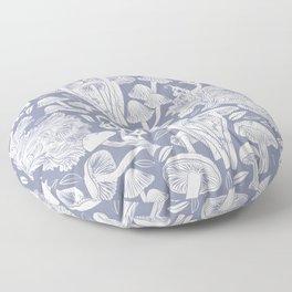Delicious Autumn botanical poison IV // blue grey background Floor Pillow