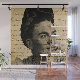 Letter Frida Kahlo Wall Mural