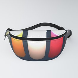 Bright moving waves Fanny Pack